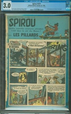 Spirou 1071 CGC 3.0 French 1958; 1st Appearance of the Smurfs; OW-W
