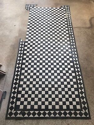 VICTORIAN REPRODUCTION FLOOR tiles and borders On Sheet- black ...