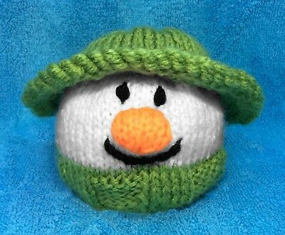 KNITTING PATTERN -The Snowman Head inspired choc orange cover /9cm Christmas toy