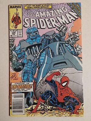 The Amazing Spider-Man #329 (Feb 1990, Marvel) Newstand Cover, Captain Universe.