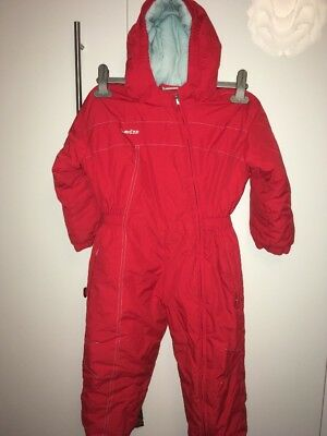 DECATHLON Age 4 Red Ski Suit Snow Outerwear Thick Lined