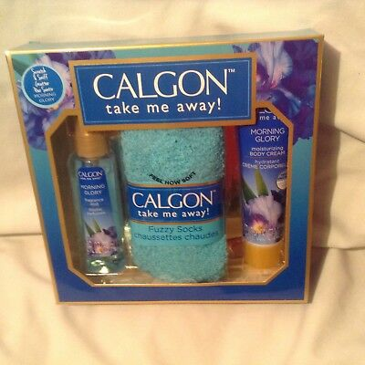 Calgon-Take Me Away- Mist, Body Cream & Fuzzy Socks-Morning Glory Only Option