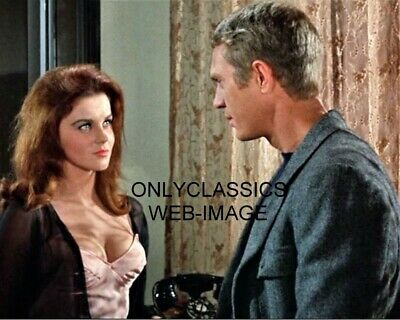 1965 Cool Steve Mcqueen Sexy Busty Ann Margret 8X10 Movie Photo Pinup Cheesecake