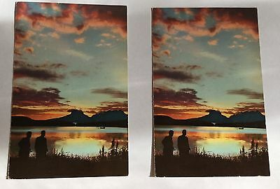 SCANDINAVIAN AIRLINES SYSTEM  SAS 2 vintage postcards - unposted Midnight Sun