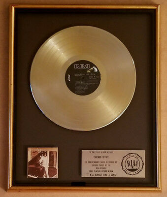 RONNIE MILSAP It Was Almost Like A Song GOLD RIAA LP Award VINTAGE RCA 1977 RARE