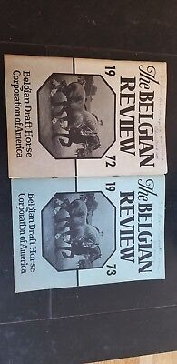 Vintage 1972 & 1973 BELGIAN REVIEW Draft Horse MAGAZINES