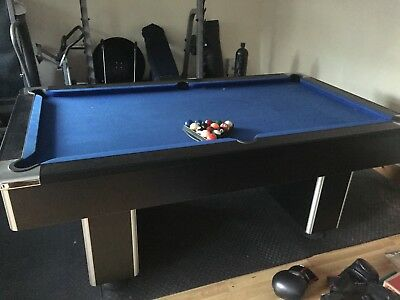 BARGAIN FT BRITISH Pool Table Mint Condition Slate Bed - British pool table
