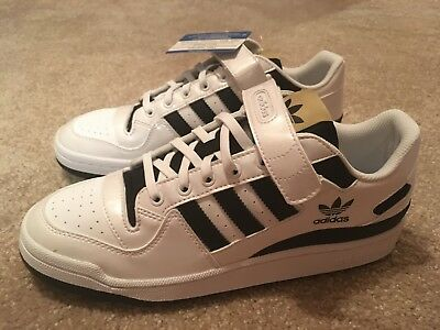 best service 989b2 45aa8 Mens Size 10 Adidas Forum Lo Strap DS White Black Gold Originals BY4156
