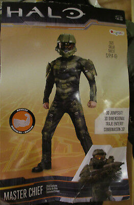 Halo Master Chief Boys Child Halloween Costume 3D Jumpsuit (S, M) Disguise 89975