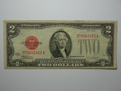 1928 F $2 LEGAL TENDER NOTE Fr# 1507 FINE+ NO RESERVE! VERY NICE! MUST SEE!!