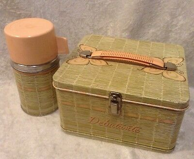 1958 Aladdin Industries Debutante Metal Lunchbox with Matching Thermos