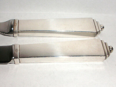 Vintage set  2 Georg Jensen Sterling Silver Cheese Knife knives Pyramid Pyramide