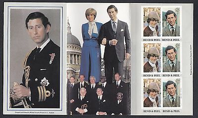 1981 Grenada Commemorates Booklet w/ Stamps, Royal Wedding of Charles & Diana