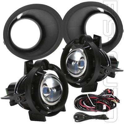 Fit 2014 2015 Chevy Camaro 3.6L V6 w/Bezel Switch Clear Projector Fog Light Kit