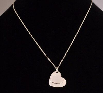 SALE!!  $225 Tiffany & Co. Sterling Silver 925 Double Heart Pendant Necklace