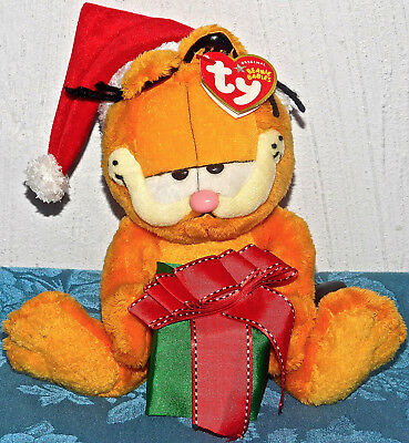 "Ty Beanie Baby Babies Happy Holidays Garfield Cat 7"" Sitting New Tags Nwt Tag"