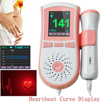 2Mhz probe accurate Fetal Heart detector Baby Fetus Doppler Sound Heart Monitor