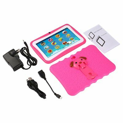 """7"""" Quad Core Tablet for Kids Google Android 4.4 8GB Dual Camera Children WiFi HM"""