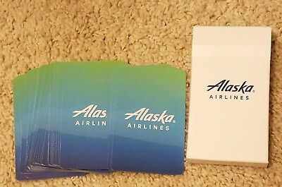 Alaska Airlines unused playing cards complete Nice design