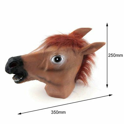 Cosplay Halloween Horse Head Mask Latex Animal Party Costume Prop Toy Novel HM