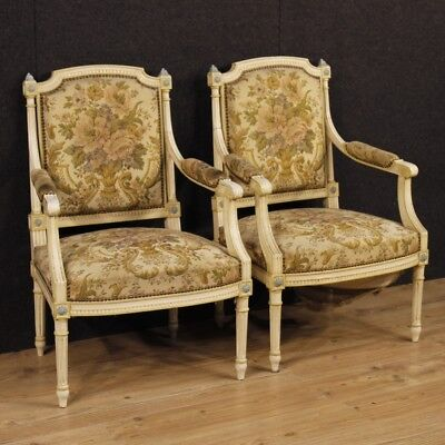 Armchairs lacquered chairs couple antique style furniture french living room