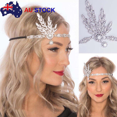 1920s 20s Great Gatsby Headband Vintage Bridal Headpiece Costume Accessory New