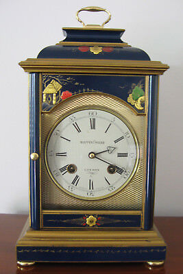 Blue Chinoiserie Georgian Style Bracket Clock