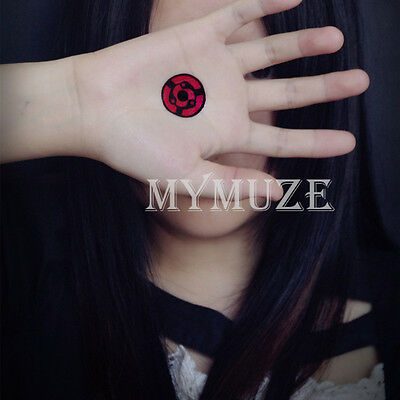 Naruto Madara Uchiha Cosplay Tattoo Sticker Mangekyou Sharingan Tatoo
