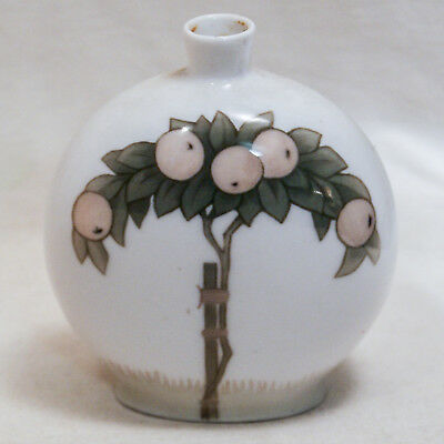 Royal Copenhagen Vase 908/209 Art Nouveau 1889-1922 Peche Peach Tree
