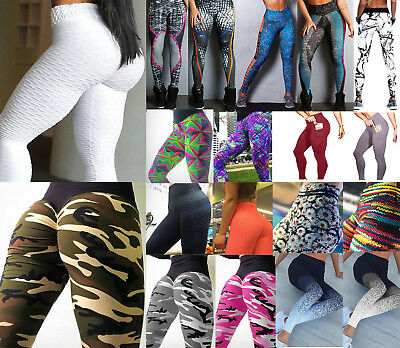 Women High Wasit Exercise Yoga Fitness Leggings Gym Sport Pants Stretch Trousers