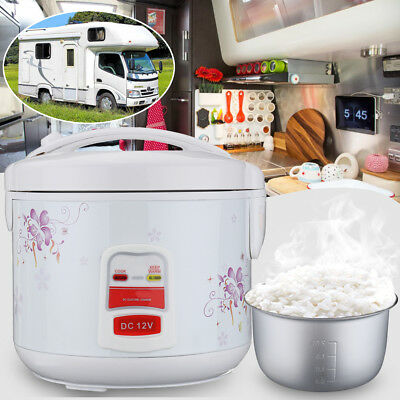 12V Electric Rice Cooker Non-stick Cookware For Outdoor Camping RV Camper Truck
