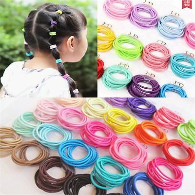 50-100 Elastic Rope Women Fashion Hair Ties Ponytail Holder Head Bands Hairbands
