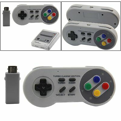 Wireless Classic Edition NES SNES Wii Controller Console Gamepad for Nintendo