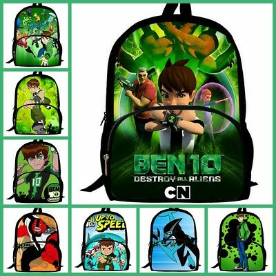 BEN 10 BOY Cartoon 3D Print Children Travel School Backpacks