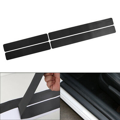 4X Car Door Sill Scuff Carbon Fiber Sticker Welcome Pedal Protect Accessories