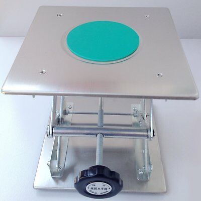 "Scissor Stand Platform Lab Jack 8""x8"" Lifting Plate 10"" Height Stainless Steel U"