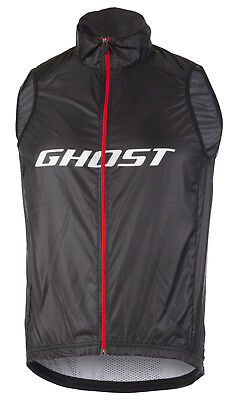 GHOST Factory Racing Vest, black, Bike Weste, Winddicht, Netzrücken, Large