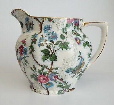 ROYAL TUDOR WARE LORNA DOONE PITCHER BARKER BROS LTD Milk Cream Jug CHINTZ