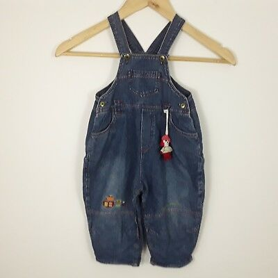 Catimini Kids French Designer Denim Dungarees Pirate Theme Age 12 Months