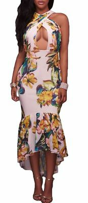 1d08a76f25df White Floral Fitted Stretch Keyhole Bodycon Dress in size Small and Medium