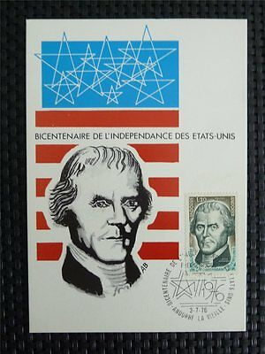 ANDORRA MK 1976 USA INDEPENDENCE MAXIMUMKARTE CARTE MAXIMUM CARD MC CM c4896