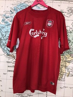 Adults Reebok Lfc Liverpool 2004 2005 Retro Football Shirt Size Xl 46/48