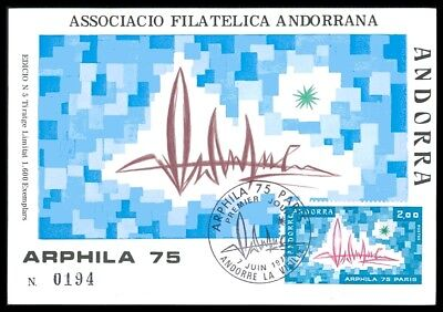 ANDORRA MK 1975 ARPHILA MAXIMUMKARTE CARTE MAXIMUM CARD MC CM ac40