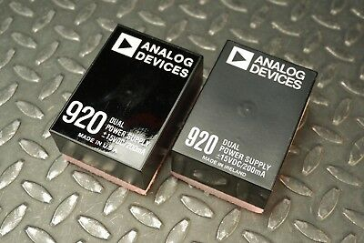 Lot of 2 Analog Devices 920 Dual Power Supply +/- 15VDC 200mA