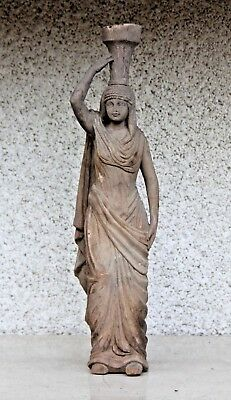 """Beautiful 20"""" Genuine Hand Carved Wooden Gothic Fancy Arab Lady Carving"""