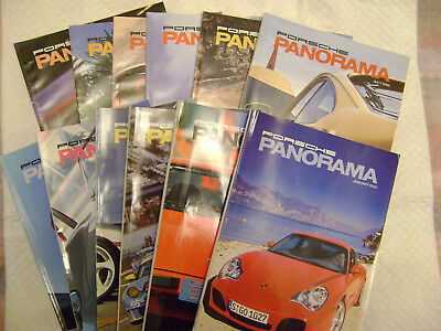2002 Porsche PCA Panorama Magazine 1ull year Issues ,*NEAR MINT CONDITION