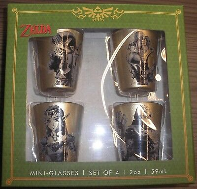 Officially Licensed Legend of Zelda 4 Golden Shot Glasses