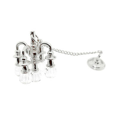 Silver Mini Dropping Light for 1:12 Scale Dollhouse Miniature Room Furniture