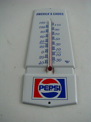 Vintage PEPSI Advertising Thermometer America's Choice RARE HTF Soda Sign Metal