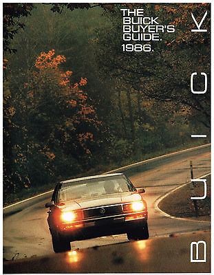 Vintage 1986 THE BUICK BUYER'S GUIDE All Models BROCHURE Booklet 48 Pages